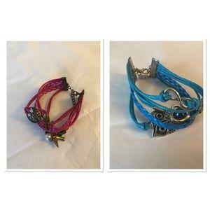 Bundle: 2 mixed media bracelets nwot